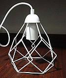 Подвесная люстра на 3-лампы RUBY-3G E27 на круглой основе, белый, фото 2