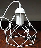 Подвесная люстра на 3-лампы RUBY-3G E27 на круглой основе, белый, фото 3