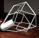 Подвесная люстра на 3-лампы RUBY-3G E27 на круглой основе, белый, фото 4