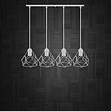 Подвесная люстра на 4-лампы RUBY-4 E27 белый, фото 3