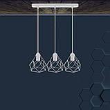 Подвесная люстра на 3-лампы RUBY-3 E27 белый, фото 2