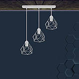 Подвесная люстра на 3-лампы RUBY-3 E27 белый, фото 3