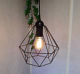 Подвесная люстра паук на 8-ламп CLASSIC-8 E27 чёрный 1,5м., фото 2