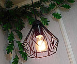 Подвесная люстра на 3-лампы SKRAB-3G E27 на круглой основе, чёрный, фото 5