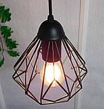 Подвесная люстра на 3-лампы SKRAB-3G E27 на круглой основе, чёрный, фото 6