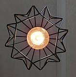 Подвесная люстра на 3-лампы SKRAB-3G E27 на круглой основе, чёрный, фото 7