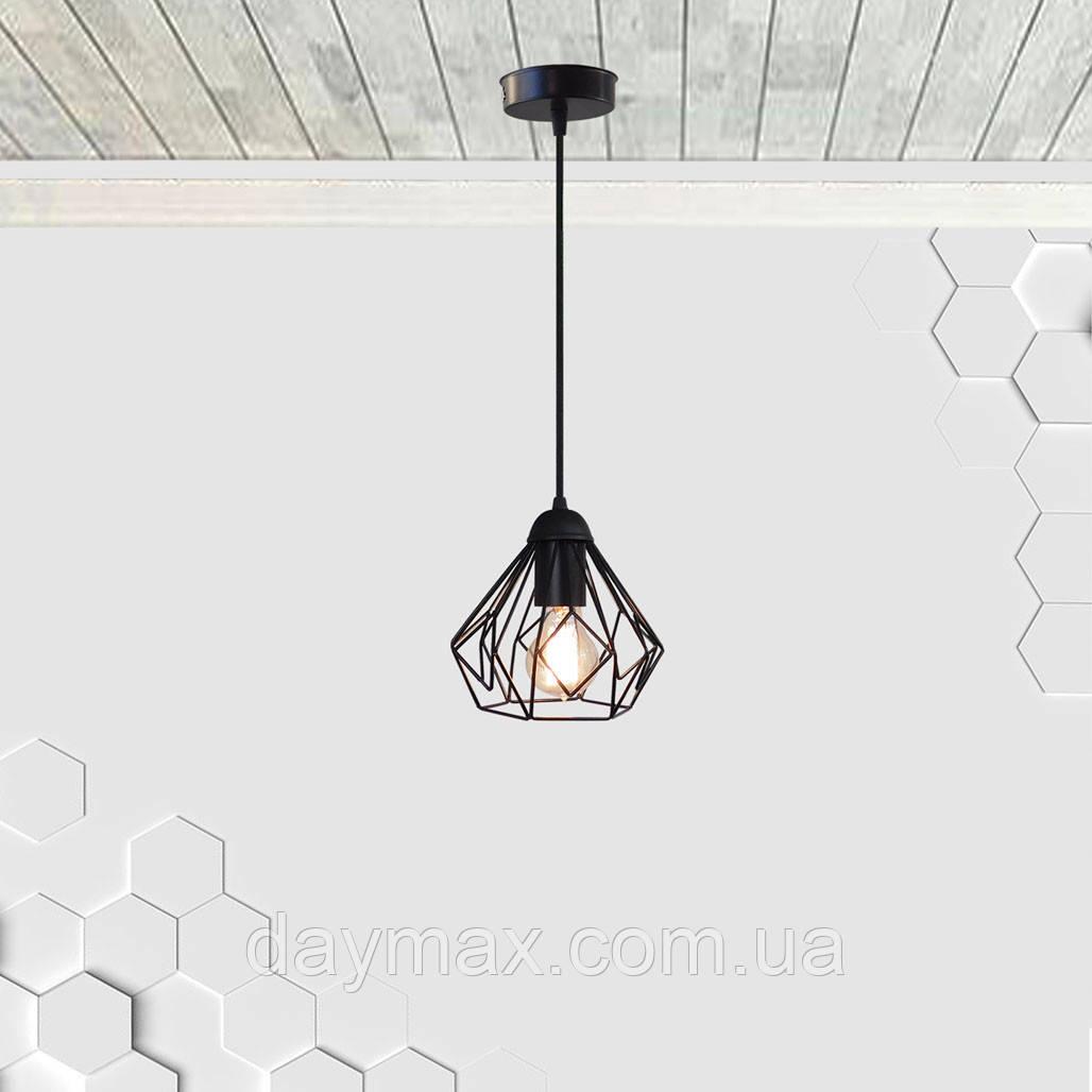 Подвесной светильник SKRAB E27 чёрный