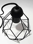 Подвесной светильник RUBY E27 чёрный, фото 4