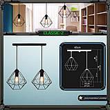 Подвесная люстра на 2-лампы CLASSIC-2 E27 чёрный, фото 8