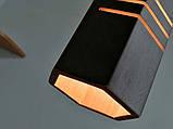 Подвесная люстра MONA-3 E27  на 3-лампы, темное  дерево, фото 5