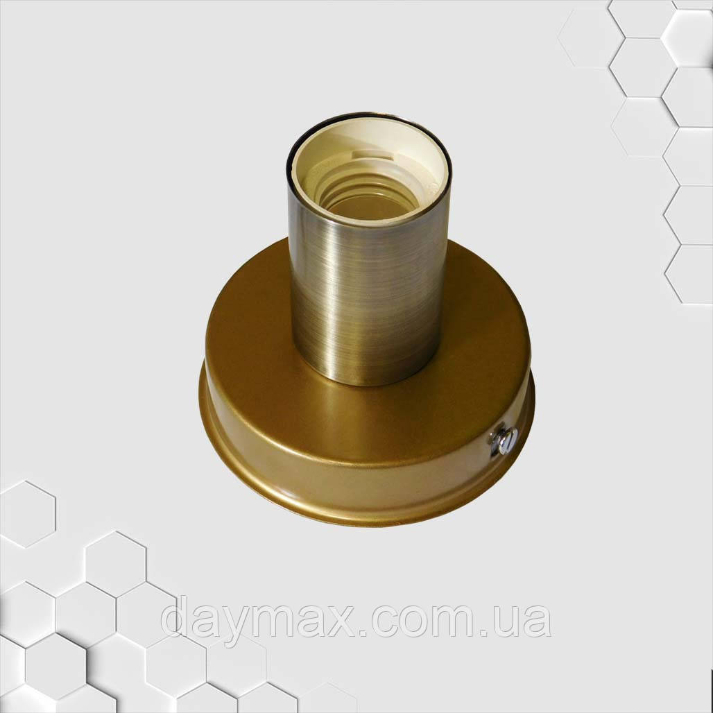 Светильник бра настенно-потолочный на 1-лампу BASE  E27 золото