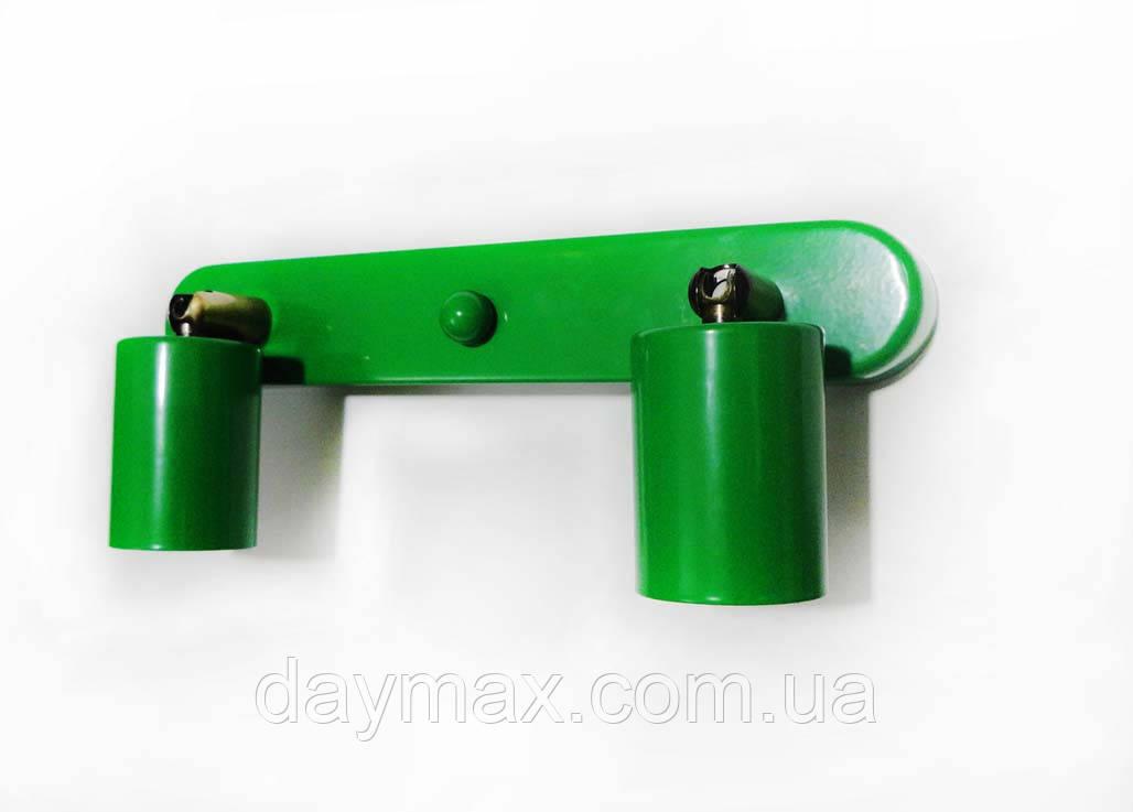 Спот поворотный на 2-лампы SLEEVE-2  E27 зеленый