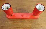 Спот поворотный на 2-лампы SLEEVE-2  E27 красный, фото 7