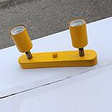 Спот поворотный на 2-лампы SLEEVE-2  E27  оранжевый, фото 3