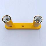 Спот поворотный на 2-лампы SLEEVE-2  E27  оранжевый, фото 4