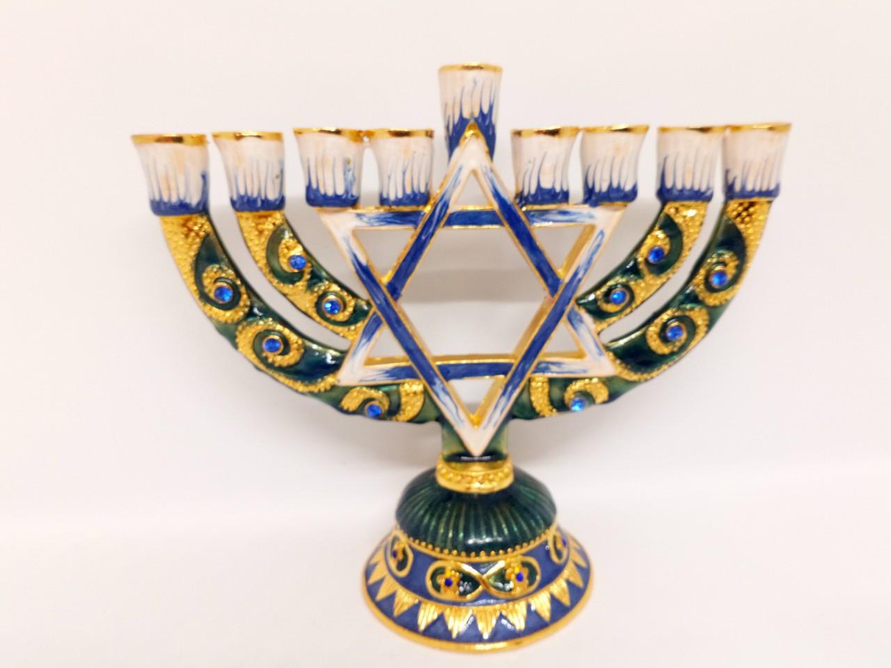 Подсвечник Ханукия бронзовый на 9 свечей