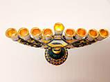Подсвечник Ханукия бронзовый на 9 свечей, фото 5