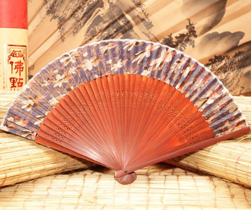 Віяло китайський шовк + бамбук №2