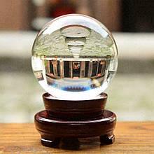 Куля кришталевий магічний на дерев'яній підставці d=5 див.