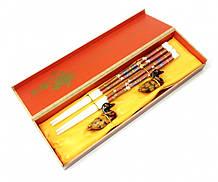 Палочки для еды, для суши 2 пары + 2 подставки в подарочной коробке №2