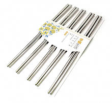 Палички для їжі сталеві в блістері набір 5 пар
