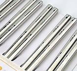Палочки для еды стальные в блистере набор 5 пар, фото 2