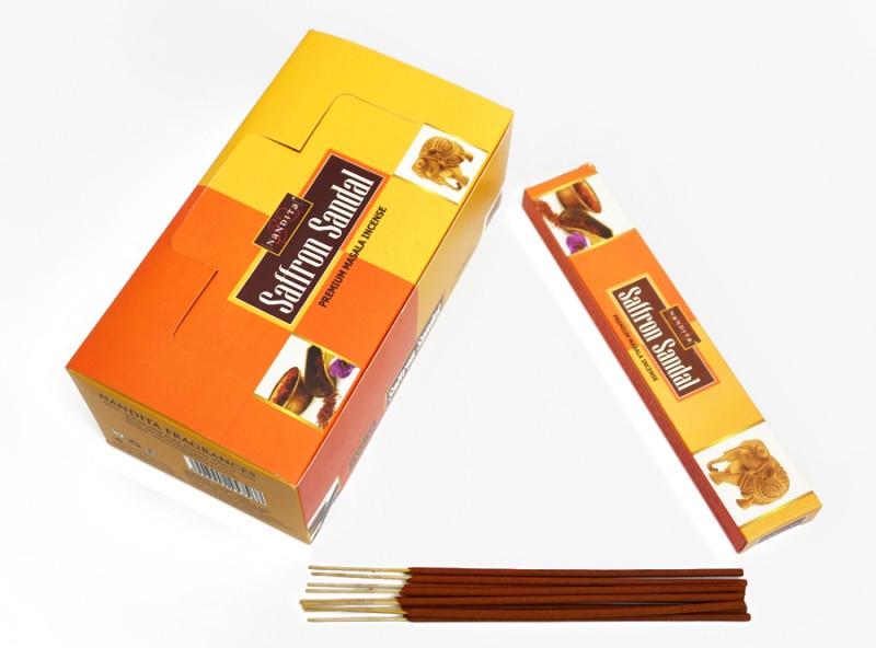 Аромапалочки Шафран с сандалом Nandita Saffron Sandal 15 грамм