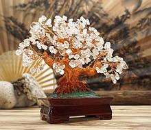 Дерево Щастя з камінням Гірський кришталь 22,5 см