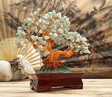 Дерево Щастя з камінням Хризоліт 22,5 см