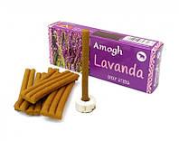 Аромапалочки Лаванда Amogh dhoop Lavender (безосновные)