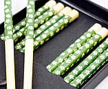 Палочки для еды бамбук с рисунком набор 5 пар №1, фото 2