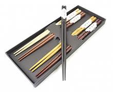 Палочки для еды деревянные ассорти 5 видов набор 5 пар №2