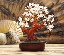 Дерево Счастья с камнями Горный хрусталь 21 см