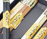 Палочки для еды треугольные деревянные ассорти 5 видов набор 5 пар, фото 2
