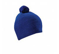 Мужская зимняя шапка синяя вязаная с пампоном от торговой марки Cofee