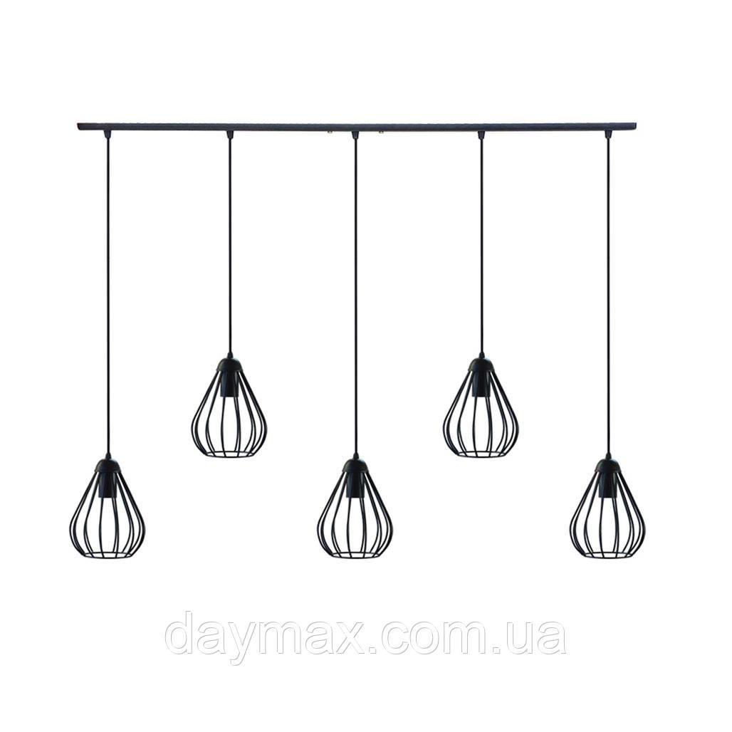 Подвесная люстра на 5-ламп FANTASY-5 E27 чёрный