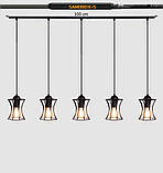 Подвесная люстра на 5-ламп SANDBOX-5 E27 чёрный, фото 8