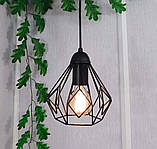 Подвесная люстра на 4-лампы SKRAB-4 E27 чёрный, фото 4