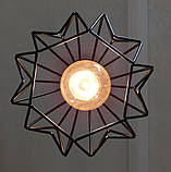 Подвесная люстра на 4-лампы SKRAB-4 E27 чёрный, фото 9