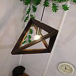 Подвесной светильник TRIANGLE E27 на 1-лампу, темное дерево, фото 4