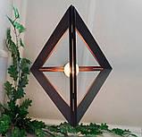 Подвесной светильник TRIANGLE E27 на 1-лампу, темное дерево, фото 5