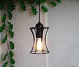Подвесная люстра на 3-лампы SANDBOX-3G E27 на круглой основе, чёрный, фото 3
