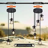 Подвесная люстра на 3-лампы SANDBOX-3G E27 на круглой основе, чёрный, фото 8