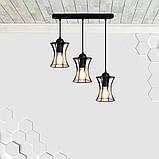 Подвесная люстра на 3-лампы SANDBOX-3 E27 чёрный, фото 2