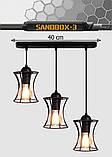 Подвесная люстра на 3-лампы SANDBOX-3 E27 чёрный, фото 8