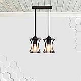 Подвесная люстра на 2-лампы SANDBOX-2 E27 чёрный, фото 2