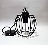 Подвесной светильник BARREL E27 чёрный, фото 2