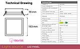 Потолочная люстра QUAD/LED LED 48W светлое дерево, фото 10