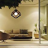 Подвесная люстра MOBIUS-3 E27 на 3-лампы, темное дерево, фото 4