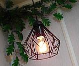 Подвесная люстра на 3-лампы SKRAB-3 E27 чёрный, фото 6